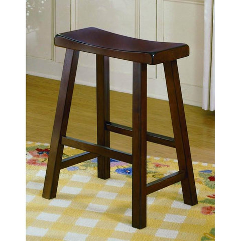Homelegance Saddleback 24H Stool in Cherry 5302C-24 - BarstoolDirect.com - 1