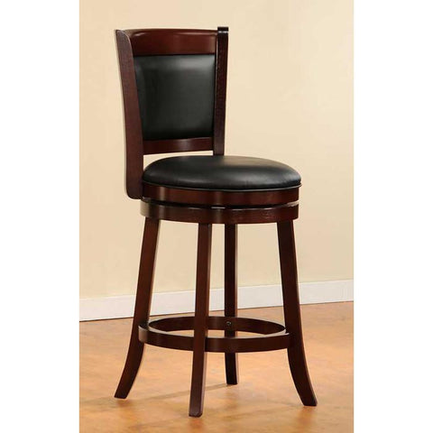 "Homelegance Shapel 1131 Swivel Counter Height 24"" Chair in Cherry (1131-24S) - BarstoolDirect.com - 1"