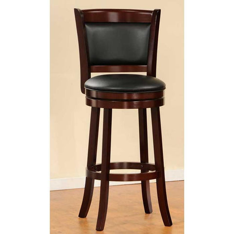 Homelegance Shapel 1131 Swivel Pub Chair in Cherry 1131-29S - BarstoolDirect.com - 2