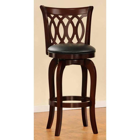 Homelegance Shapel 1133 Swivel Pub Chair in Cherry 1133-29S - BarstoolDirect.com - 1
