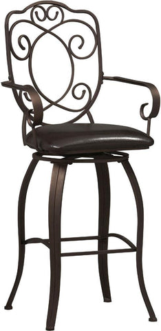 Crested Back Bar Stool 30 - 02787MTL-01-KD-U - BarstoolDirect.com