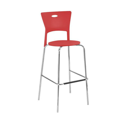 LumiSource Mimi Barstool Red - Set of 2 BS-CF-MIMI-R - BarstoolDirect.com