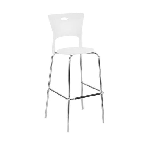 LumiSource Mimi Barstool White - Set of 2 BS-CF-MIMI-W - BarstoolDirect.com