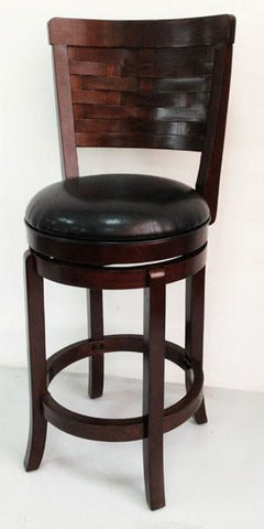 "Mochi Furniture 24"" Rosedale Swivel Stool - Cappuccino (EF81002-24CP) - BarstoolDirect.com"