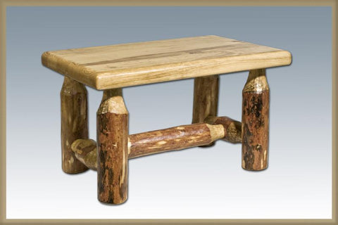 Montana Woodworks MWGCFS Footstool Glacier Country - BarstoolDirect.com