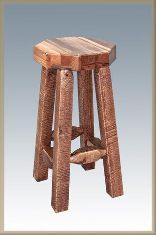 Montana Woodworks MWHCBNSL Homestead Collection Barstool, no Back Stained and Lacquered - BarstoolDirect.com