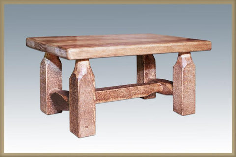 Montana Woodworks MWHCFSSL Homestead Collection Footstool Stained and Lacquered - BarstoolDirect.com