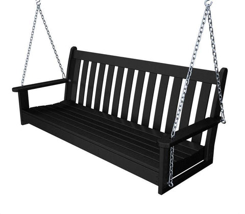 "Polywood GNS60BL Vineyard 60"" Swing in Black - PolyFurnitureStore"