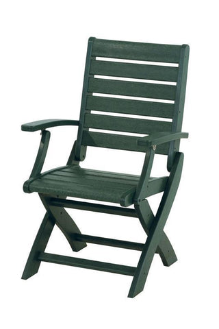 Polywood 1900-GR Signature Folding Chair in Green - PolyFurnitureStore