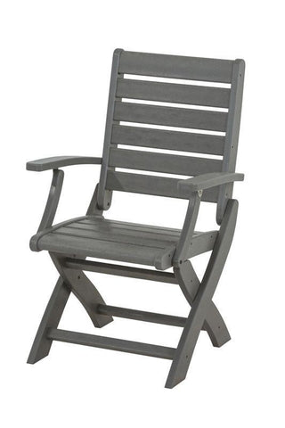 Polywood 1900-GY Signature Folding Chair in Slate Grey - PolyFurnitureStore