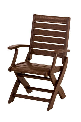 Polywood 1900-MA Signature Folding Chair in Mahogany - PolyFurnitureStore
