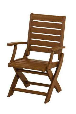 Polywood 1900-TE Signature Folding Chair in Teak - PolyFurnitureStore