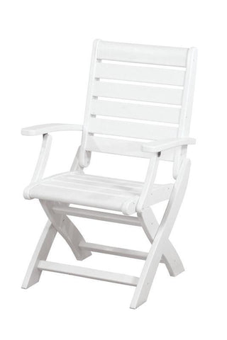 Polywood 1900-WH Signature Folding Chair in White - PolyFurnitureStore