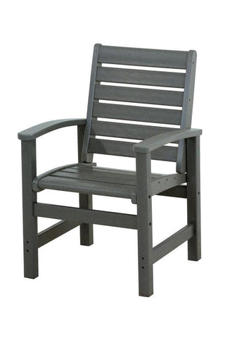Polywood 1910-GY Signature Dining Chair in Slate Grey - PolyFurnitureStore