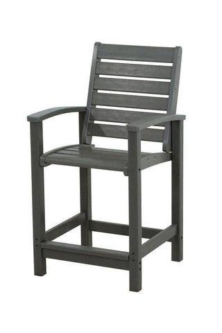 Polywood 1911-GY Signature Counter Chair in Slate Grey - PolyFurnitureStore