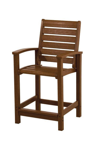 Polywood 1911-TE Signature Counter Chair in Teak - PolyFurnitureStore