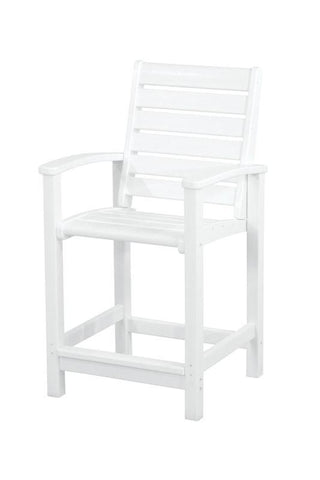 Polywood 1911-WH Signature Counter Chair in White - PolyFurnitureStore