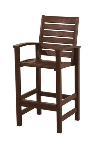 Polywood 1912-MA Signature Bar Chair in Mahogany - PolyFurnitureStore