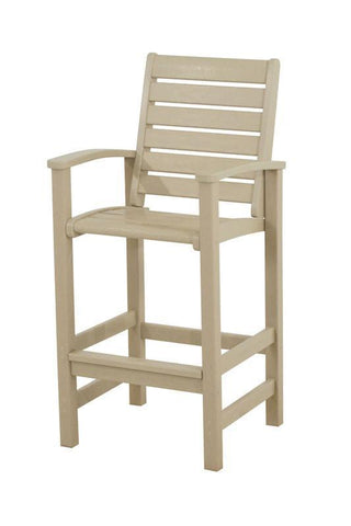 Polywood 1912-SA Signature Bar Chair in Sand - PolyFurnitureStore