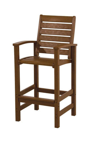Polywood 1912-TE Signature Bar Chair in Teak - PolyFurnitureStore