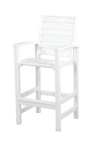Polywood 1912-WH Signature Bar Chair in White - PolyFurnitureStore