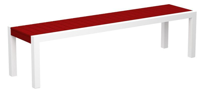 Bench Gloss White Aluminum Frame Sunset Red Mod 3328 Product Photo