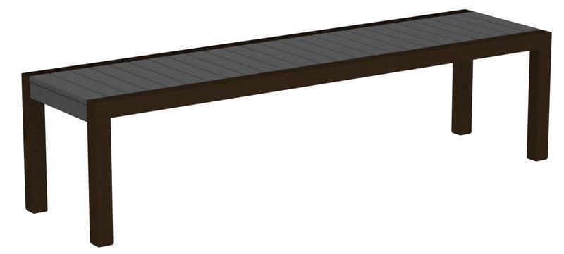 Bench Textured Bronze Aluminum Frame Slate Grey Mod 3360 Product Photo