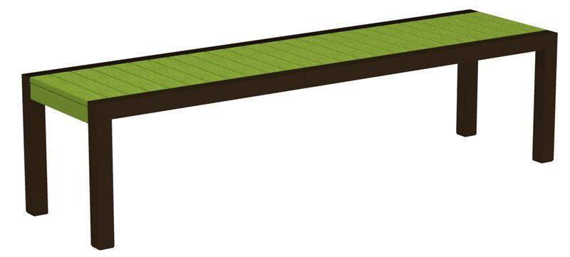 Bench Textured Bronze Aluminum Frame Lime Mod 3356 Product Photo