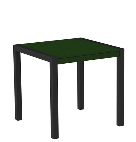 "Polywood 8000-12GR MOD 30"" Dining Table in Textured Black Aluminum Frame / Green - PolyFurnitureStore"