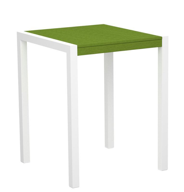 Mod Counter Table Gloss White Aluminum Frame Lime 4431 Product Photo