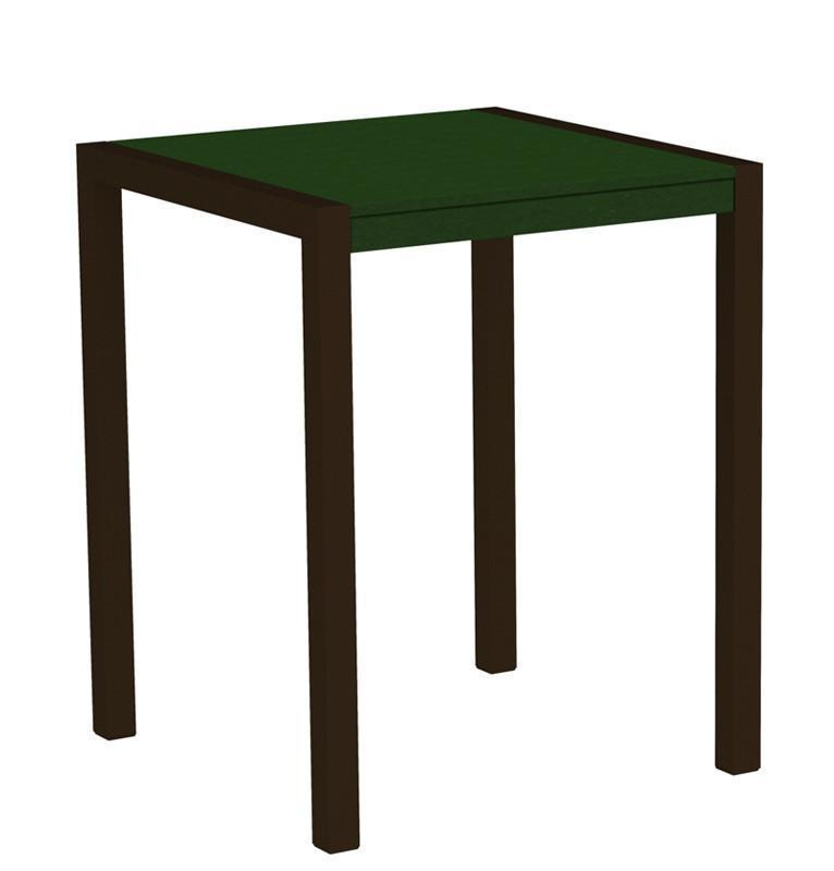 Mod Counter Table Textured Bronze Aluminum Frame Green 4454 Product Photo
