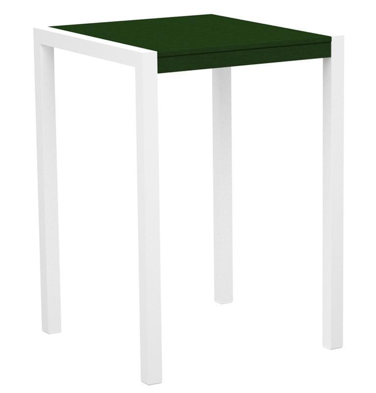 Bar Table Gloss White Aluminum Frame Green Mod 3475 Product Photo