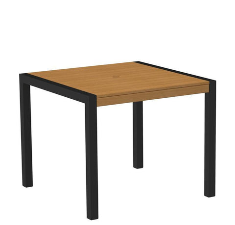 "Polywood 8100-12NT MOD 36"" Dining Table in Textured Black Aluminum Frame / Plastique - PolyFurnitureStore"