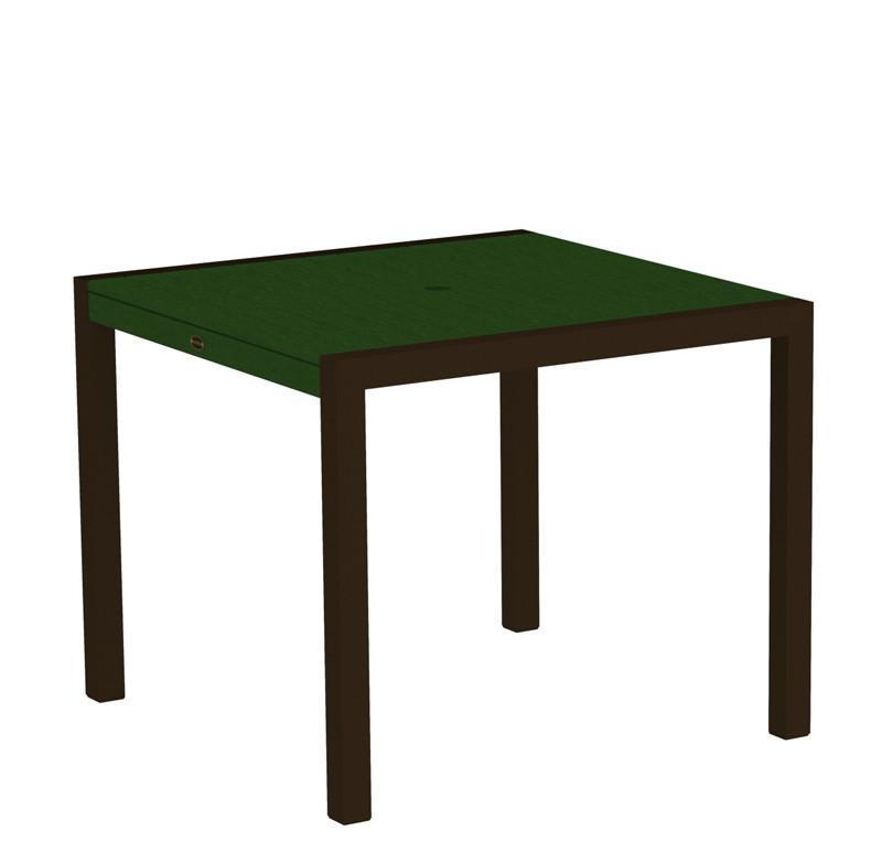 Dining Table Textured Bronze Aluminum Frame Green Mod 3439 Product Photo