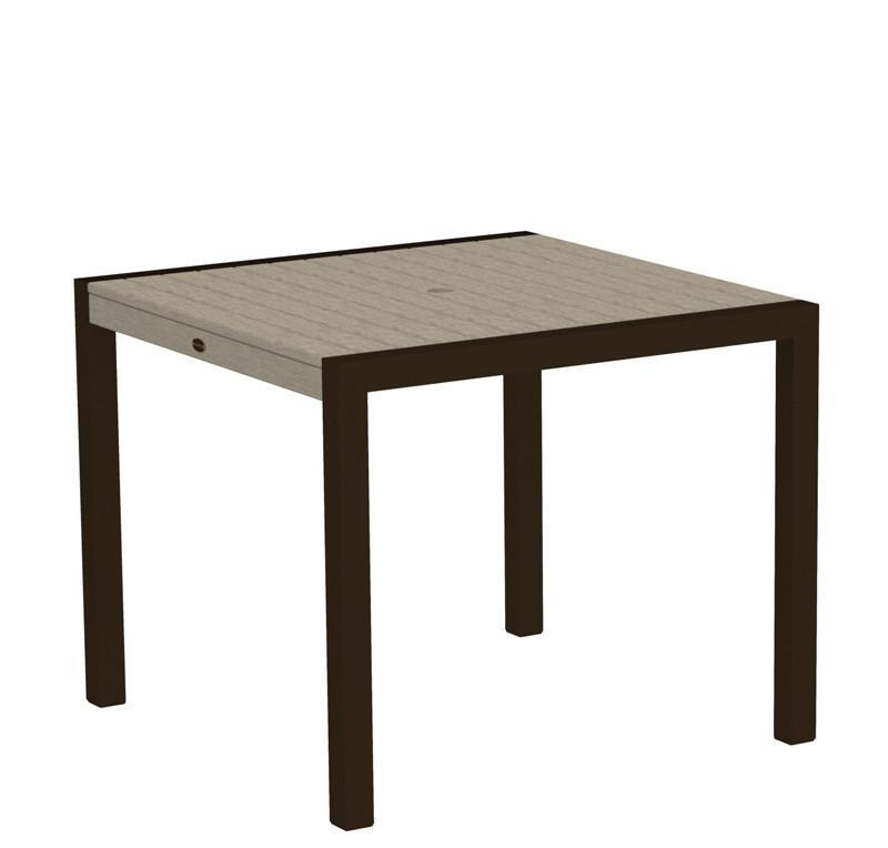 Dining Table Textured Bronze Aluminum Frame Sand Mod 3443 Product Photo