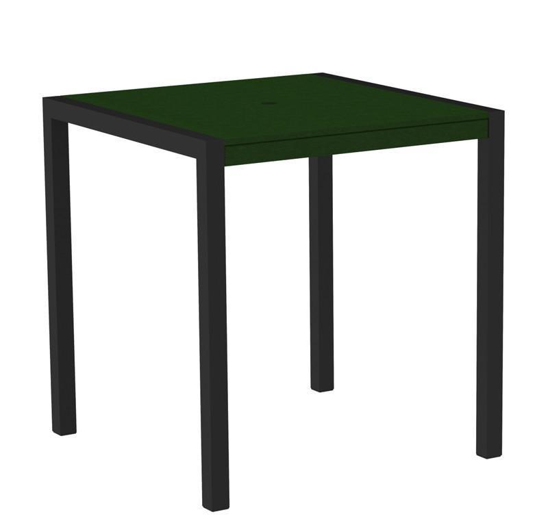 Mod Counter Table Textured Black Aluminum Frame Green 3363 Product Photo