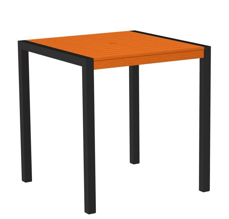 Counter Table Textured Black Aluminum Frame Tangerine Mod 2751 Product Photo