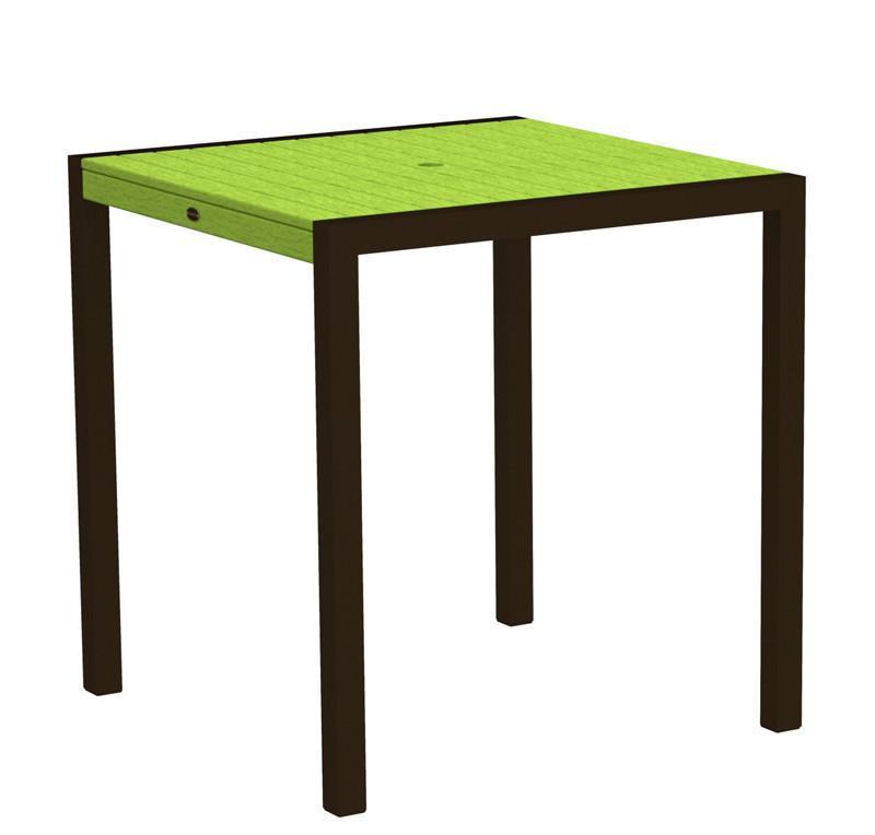 Counter Table Textured Bronze Aluminum Frame Lime Mod 2757 Product Photo