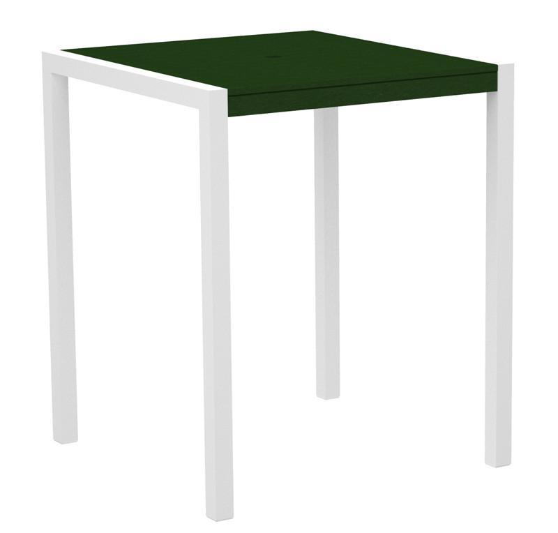 Bar Table Textured White Aluminum Frame Green Mod 2539 Product Photo