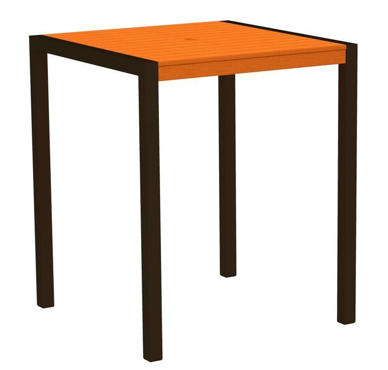Bar Table Textured Bronze Aluminum Frame Tangerine Mod 2522 Product Photo