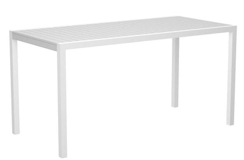 "Polywood 8301-10WH MOD 36"" x 73"" Counter Table in Gloss White Aluminum Frame / White - PolyFurnitureStore"