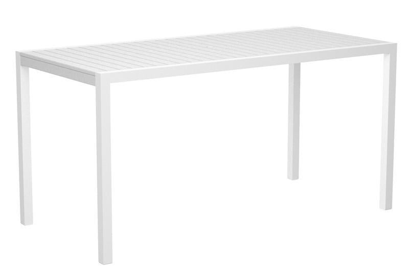Counter Table Textured White Aluminum Frame White Mod 1366 Product Photo