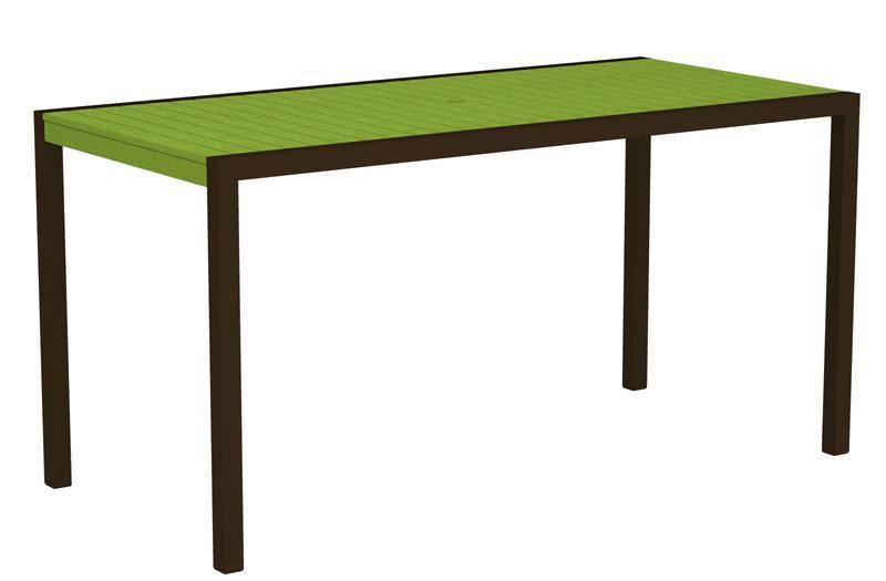 Counter Table Textured Bronze Aluminum Frame Lime Mod 1333 Product Photo