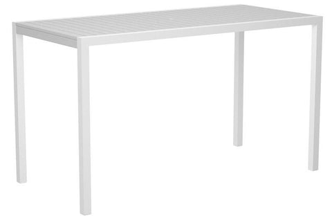 "Polywood 8302-10WH MOD 36"" x 73"" Bar Table in Gloss White Aluminum Frame / White - PolyFurnitureStore"
