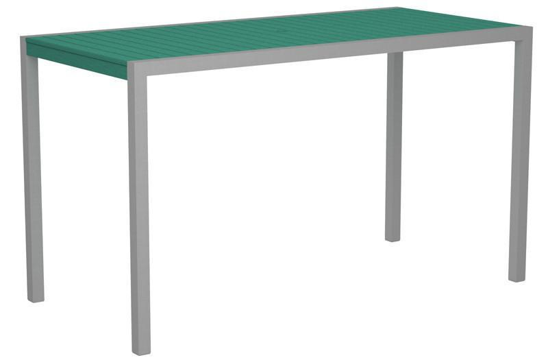 Bar Table Textured Silver Aluminum Frame Aruba Mod 1221 Product Photo