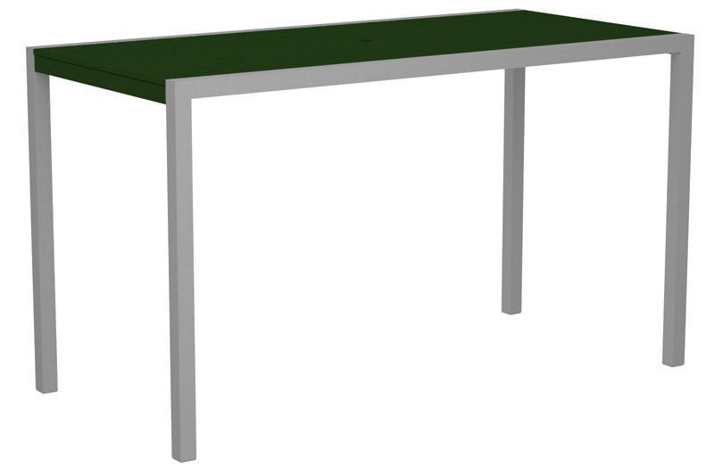 Bar Table Textured Silver Aluminum Frame Green Mod 1225 Product Photo