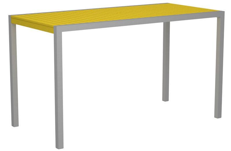 Bar Table Textured Silver Aluminum Frame Lemon Mod 1225 Product Photo