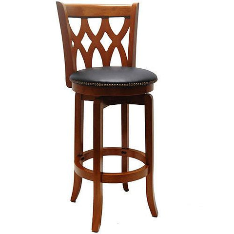 "Boraam 24"" Cathedral Swivel Stool - Es Cherry (40224) - BarstoolDirect.com"