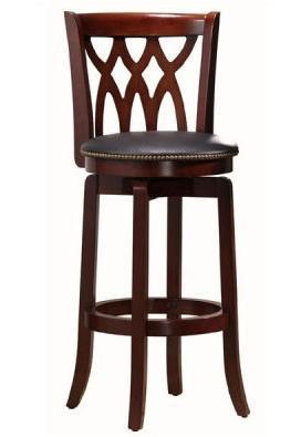 "Boraam 24"" Cathedral Swivel Stool - Lt. Cherry (40324) - BarstoolDirect.com"