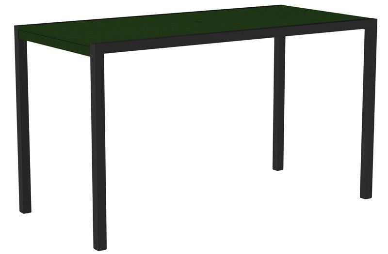 Bar Table Textured Black Aluminum Frame Green Mod 1199 Product Photo
